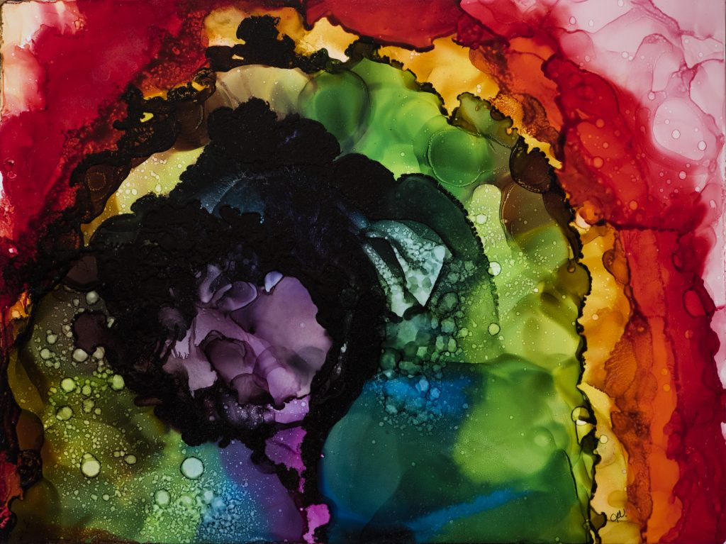 Alcohol Ink Painting: Finding Balance by Teresa McCallum
