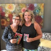 Teresa of Finding Balance visiting Karen of Inspirit Studio